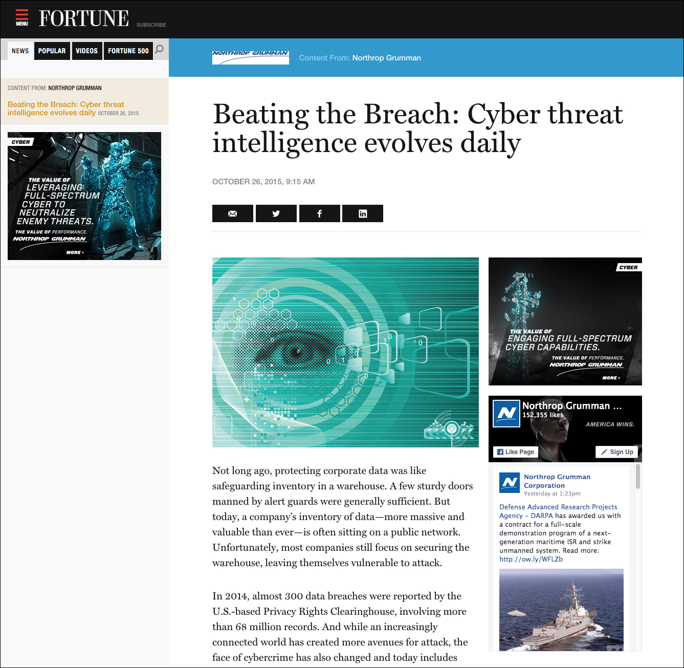 Beating the Breach: Cyber threat intelligence evolves daily