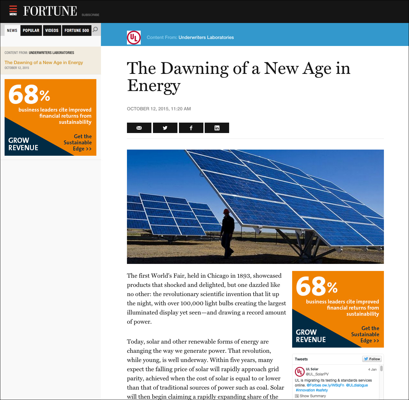 The Dawning of a New Age in Energy - Time Inc  Content