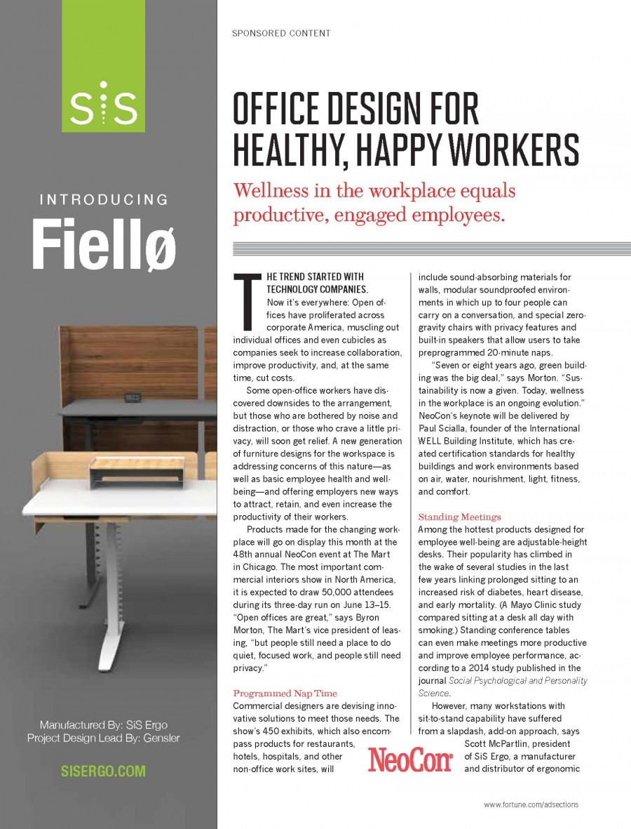 Office Design for Healthy, Happy Workers
