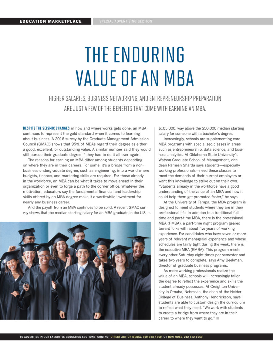 the enduring value of an mba time inc content marketing the enduring value of an mba
