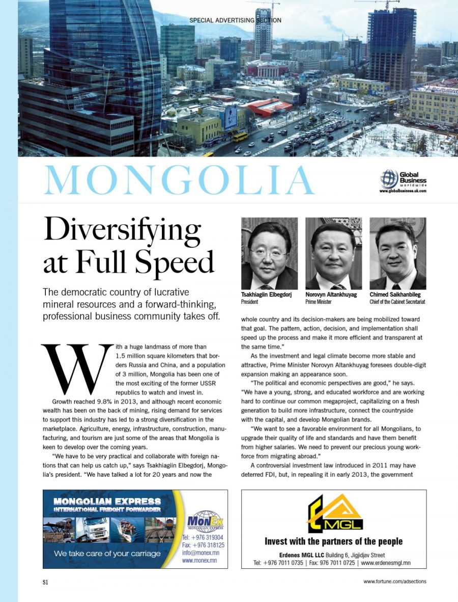 MONGOLIA: Diversifying at Full Speed