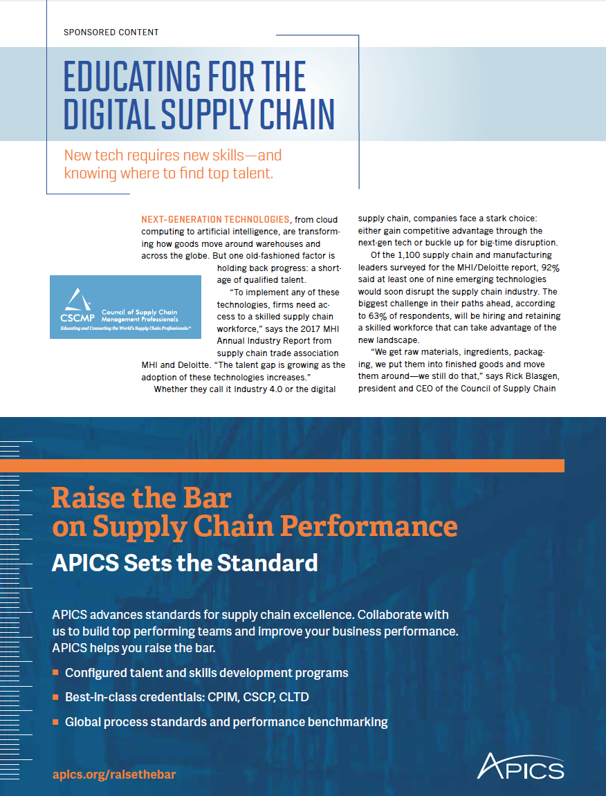 Educating for the Digital Supply Chain