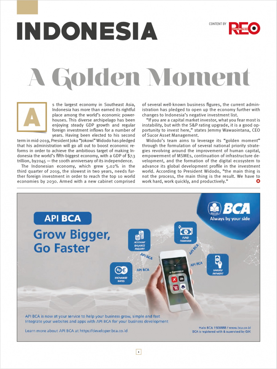 Indonesia–A Golden Moment