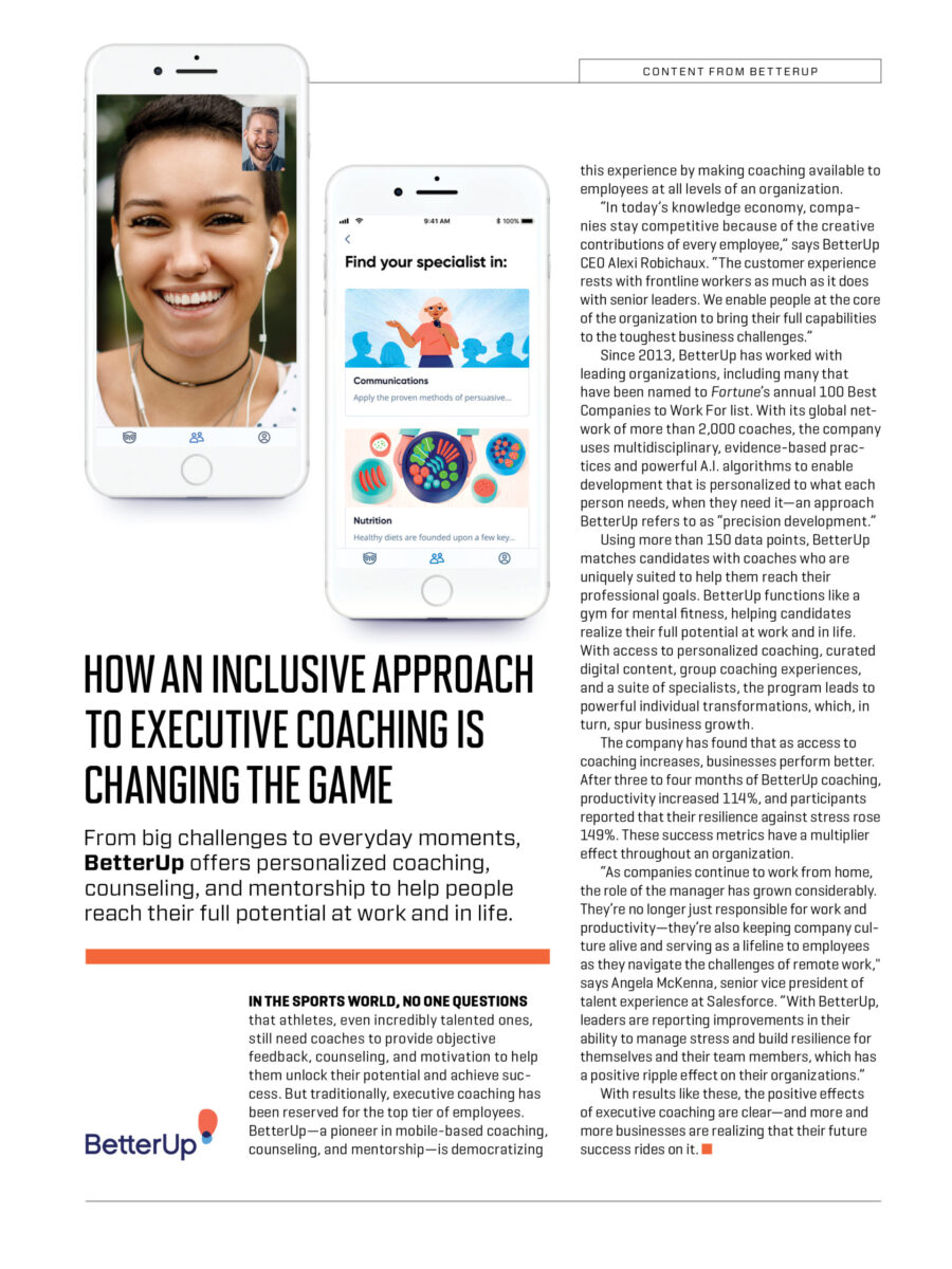 How An Inclusive Approach To Executive Coaching Is Changing the Game