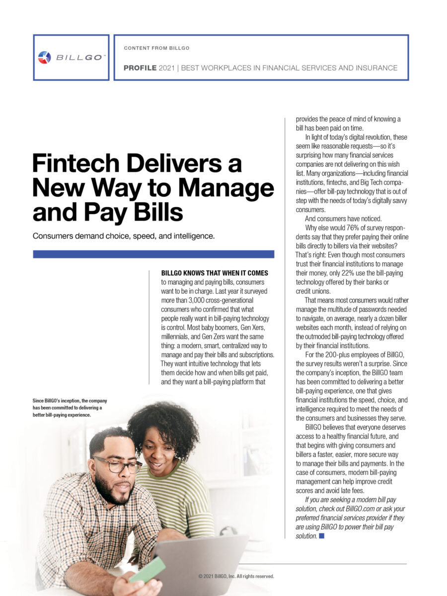 Fintech Delivers a New Way to Manage and Pay Bills
