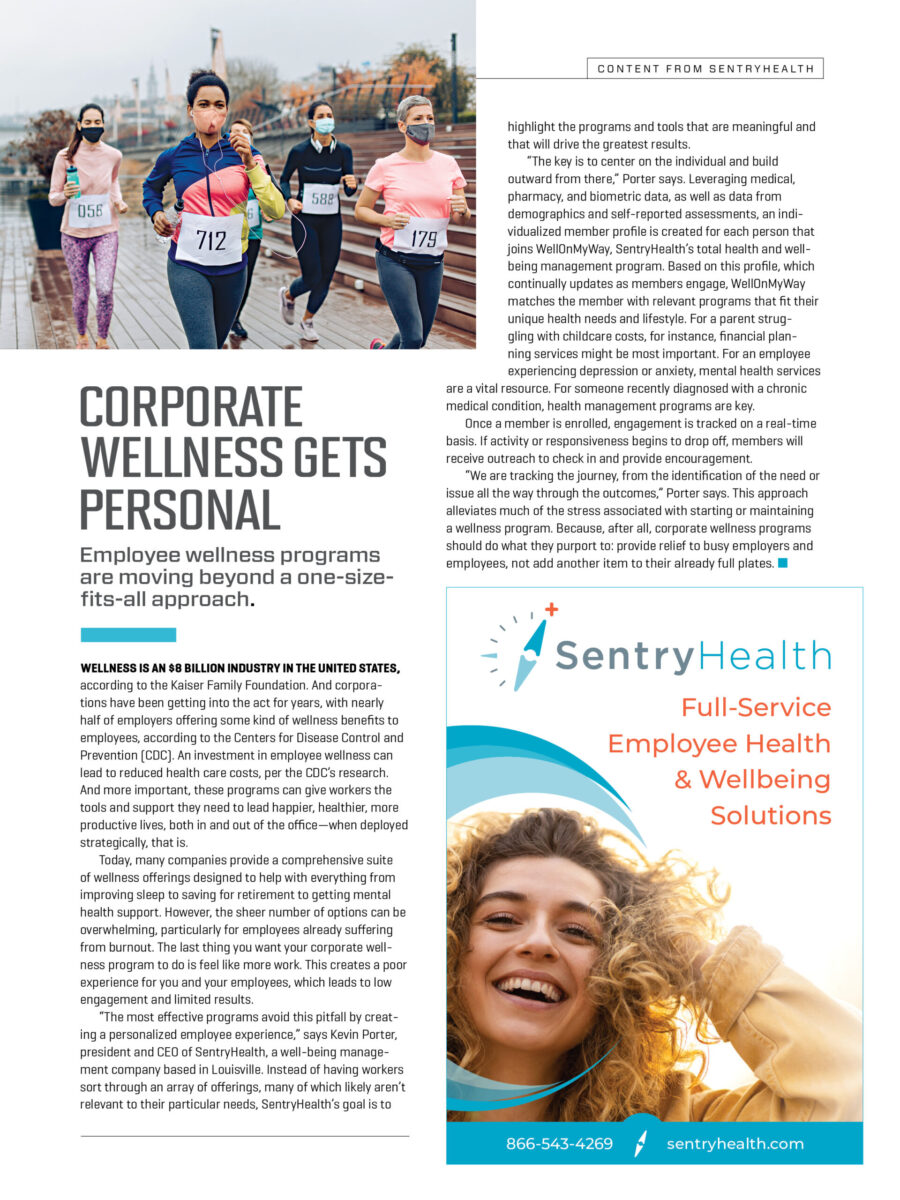 Corporate Wellness Gets Personal
