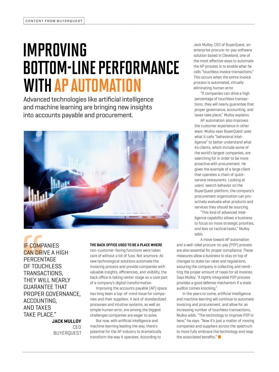 Improving Bottom-Line Performance with AP Automation