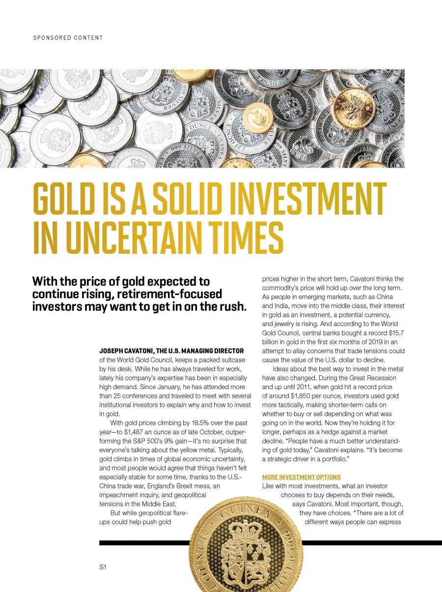 Gold Is a Solid Investment in Uncertain Times